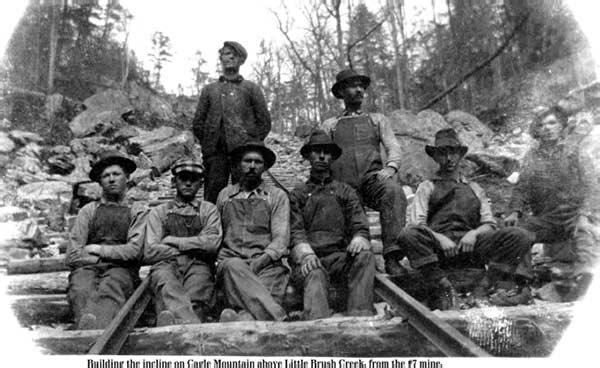 Building incline #7 mine