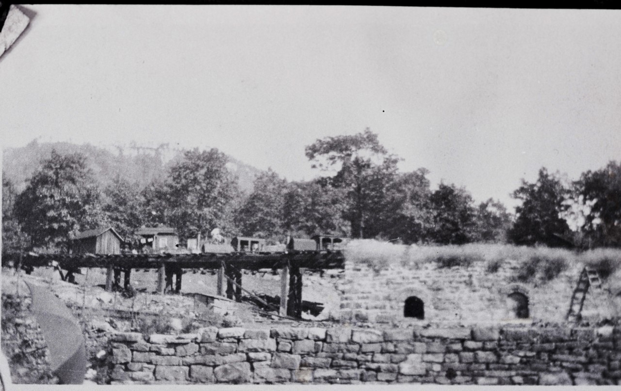 Coke Ovens Dunlap built 1902 with two dinky Kell pic copy